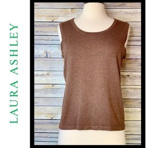 Just In! NWT Laura Ashley Knit Tank, Sz Petite Sm